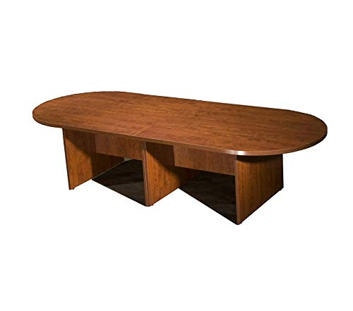 Wood & Style Furniture 10Ft Race Track Conference Table Cherry Premium Office Home Durable Strong