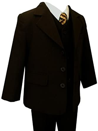 Amazon.com: Gino Giovanni Formal Boy Brown Suit Boys to Teen ...