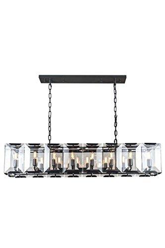 Harlow Crystal - Elegant Lighting 1212D53FB Monaco Collection 16-Light Pendant Lamp, 53