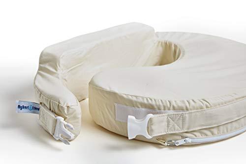 My Brest Friend Original Nursing Posture Pillow with White Organic Cotton Slipcover