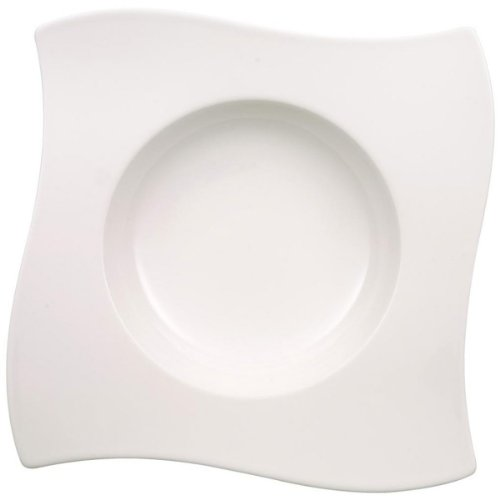 Villeroy & Boch New Wave Rim Soup, 10.25 in, White