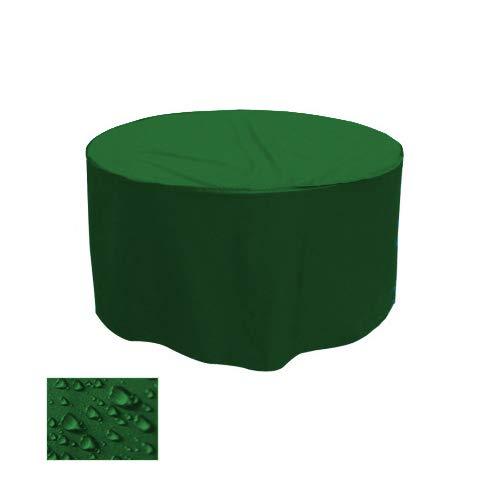Holi Europe Premium Gartentisch Abdeckung Gartenmöbel Schutzhülle RUND ø 150cm x H 70cm Tannengrün