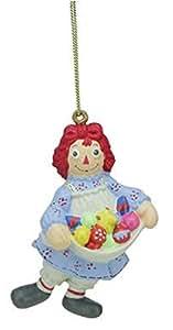 Raggedy Ann Holding Treats Christmas Ornament