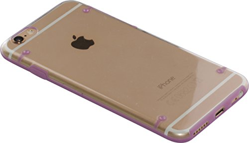"nandu™ iPhone 6 / 6S Hülle ""Ultra-Slim"" - transparentes Hard Case mit lila Rand"