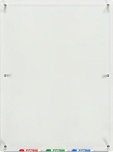 Audio-Visual Direct Clear Glass Dry-Erase Board 4' x 3', (Transparent)