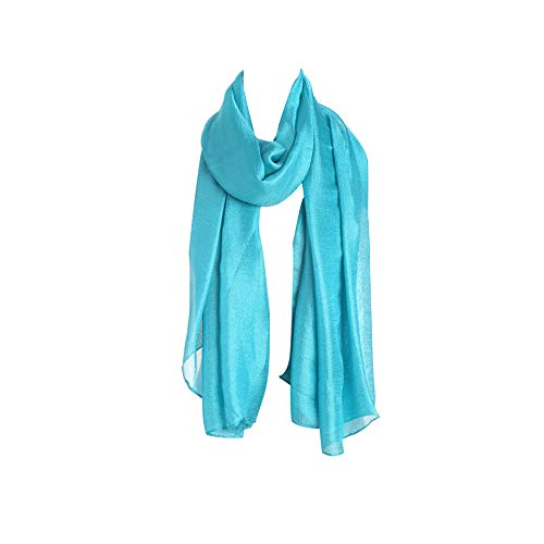 Acvip Couleur Echarpe Femme foulard Bleu Lin Lac Anti châle Pure Soleil r1wOBYq1xZ