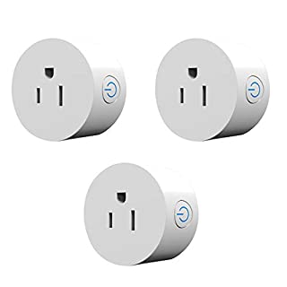 Mini Smart Plug Outlet- Pack of 4 Compatible with Amazon Alexa and Google Home, no hub Required, WiFi Enable Remote Control (3, Smart Plug)