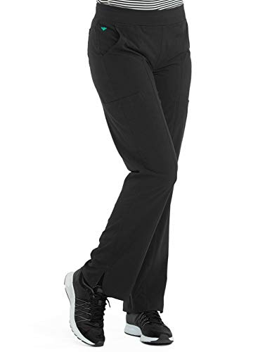 - Med Couture Energy Women's Yoga 2 Cargo Pocket Scrub Pant, Black, Medium Tall