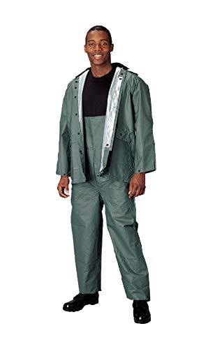 BlackC Sport Olive Drab Medium Gauge 3 Piece PVC Rain Suit ()