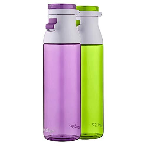 Contigo Jackson Reusable Water Bottles, 24oz, Lilac and Citron, 2-Pack
