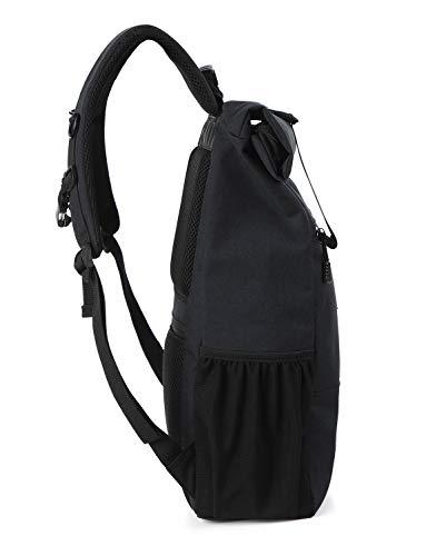Pour De Convient Sacs Camping Randonnée Daypack Casual Dos À Bandoulière Ordinateur Backpack School Noir 15 Voyages Pouces Les Portable Sac Lixada 7gq0wnx