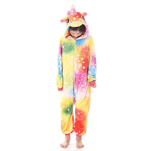 Meeyou Kids Unicorn Costume, Animal Onesie Pajamas for Boys & Girls (140(Height:53.1