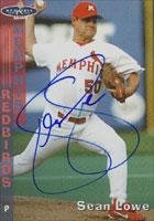 Sean Lowe Memphis Chicks - Mariners Affiliate 1998 Grandstand Autographed Card - Minor League Card. This item comes with a certificate of authenticity from Autograph-Sports. Autographed