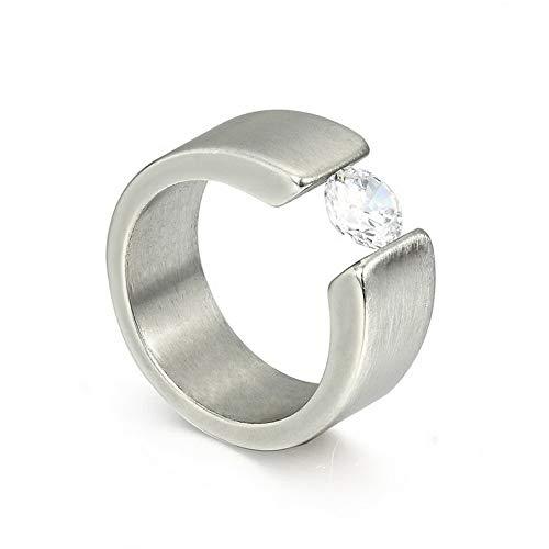 Rhame New Design Korean Fashion Men Women Stainless Steel Crystal Rings Gold Silver | Model RNG - 20420 | 7