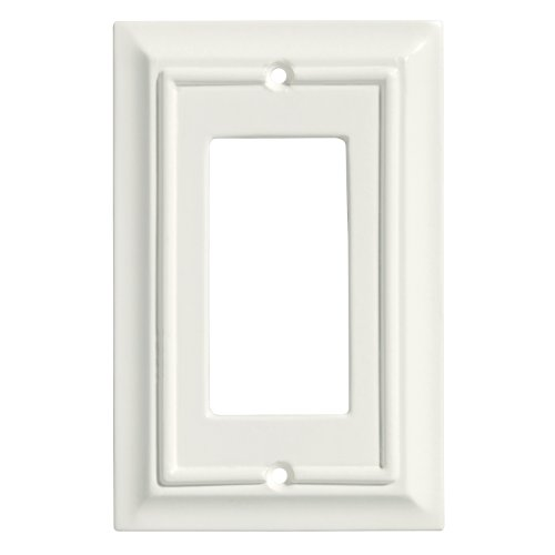 Brainerd Wall Plate (Brainerd 126332 Wood Architectural Single Decorator Wall Plate / Switch Plate / Cover)