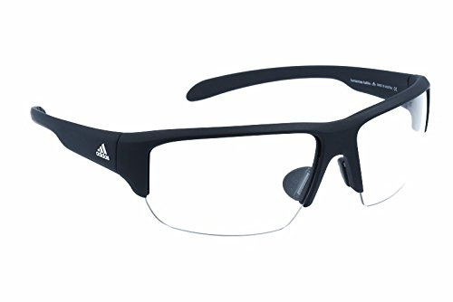 adidas Kumacross Halfrim Non-Polarized Iridium Rectangular Sunglasses, Black Matte, 64 - Sunglasses 64mm
