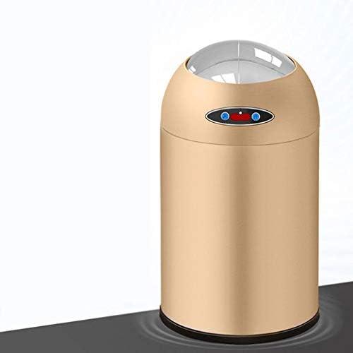 キッチンゴミ箱 バスルームベッドルームホームオフィス用ふた廃ビン、キッチンごみ箱、6L、8L、12L(ラウンド、イエロー)とタッチレスモーションセンサーごみ箱 ごみ収集 (サイズ : 12L)