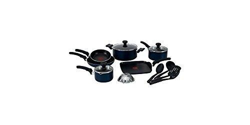 T-Fal 14-Piece Soft Handles Non-Stick Cookware Set (Set T Cookware 14 Fal Piece)