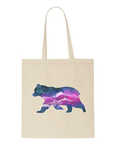 Cosmic Bag Nebula Space Beige Bear Shopper Silhouette Tote Animal rprnFS