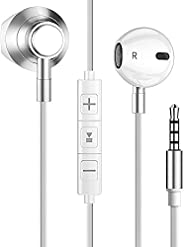 Fones de ouvido intra-auriculares graves potentes, fones de ouvido com cancelamento de ruído, fone de ouvido à