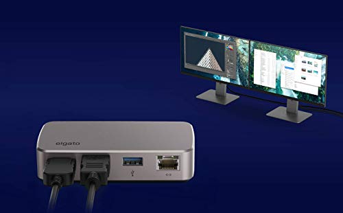 Elgato Thunderbolt 3 Mini Dock - with built-in Thunderbolt cable, 40