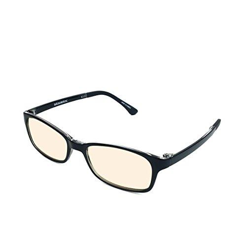 (bloobloc Melanin Computer Reading Glasses - Anti-Blue Light, Anti-Glare & UV Computer Radiation Safety Glasses - Reduces Eye Strain & Fatigue - Flexible Frame - For Teens & Kids - Boys & Girls)