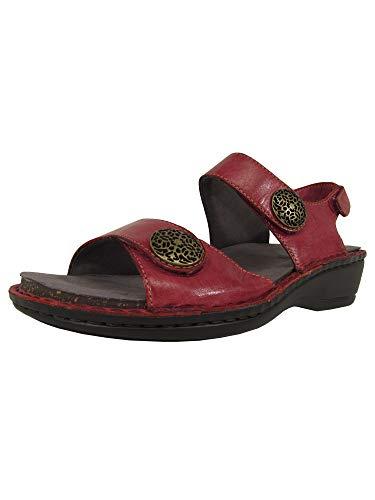 Aravon Women's Candace Dress Sandal,Dark Red,5 D US
