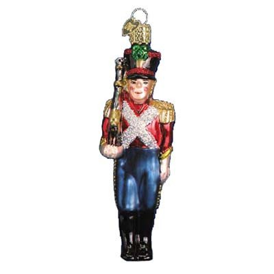 Old World Christmas Toy Soldier Glass Blown Ornament (Christmas Toy Soldier)