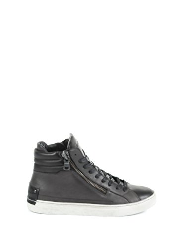CRIME London Herren 11334A1731 Grau/Schwarz Leder Hi Top Sneakers