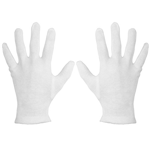 Soft Hands Gloves (Mudder 12 Pairs Cosmetic Cotton Moisturizing Gloves Moisture Enhancing Hand Spa Gloves for Hands Care, White)