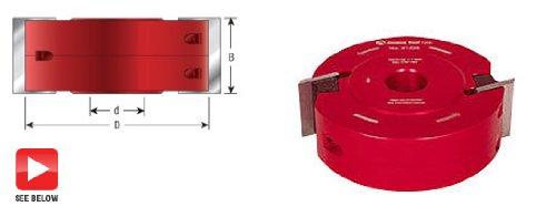 Amana Tool 61104 Profile-Pro Aluminum Cutterhead 88mm D x 40mm CH x 40mm Bore Shaper Cutter