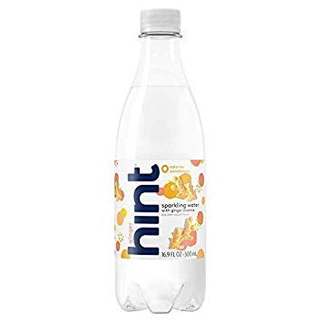 (Hint Sparkling Water Ginger, (Pack of 12) 16.9 Ounce Bottles, Unsweetened Ginger-Infused Sparkling Water, Zero Sugar, Zero Calories, Zero Sweeteners, Zero Artificial)