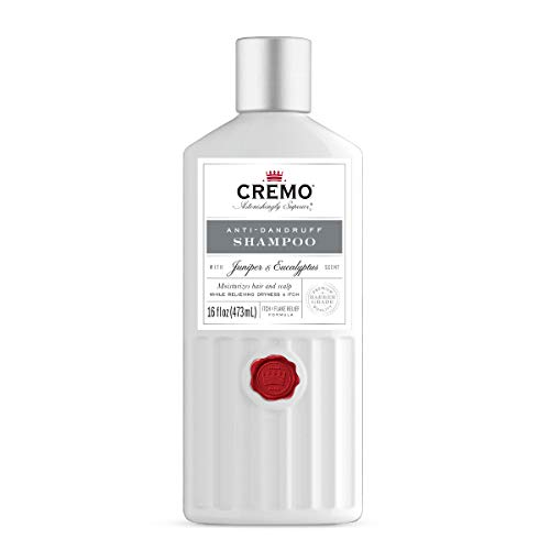 Cremo Juniper & Eucalyptus Anti-Dandruff Shampoo for Moisturized Hair and Scalp, Relieving Dryness and Itch, 16 Fluid Ounce, 2-Pack