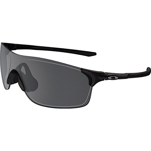 Oakley Men's Evzero Pitch Non-Polarized Iridium Rectangular Sunglasses, Matte Black, 38 - Iridium Black
