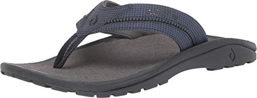 OLUKAI Men's Kia'I II Sandal, Trench Blue/Charcoal, 8 M US (Sandal Ohana Olukai Men's)