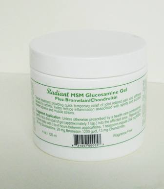 Crème MSM Glucosamine plus chondroïtine broméline et 4 oz Jar (inodore et sans parfum)