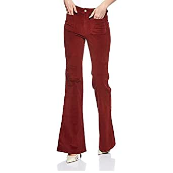 Pull & Bear-9682/341/701-WOMEN-PANT-RED-36