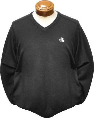 [ブラック&ホワイト]Black&White SPORT Vネックセーター メンズ B2208GFKC 手洗い可 日本製 L ブラック