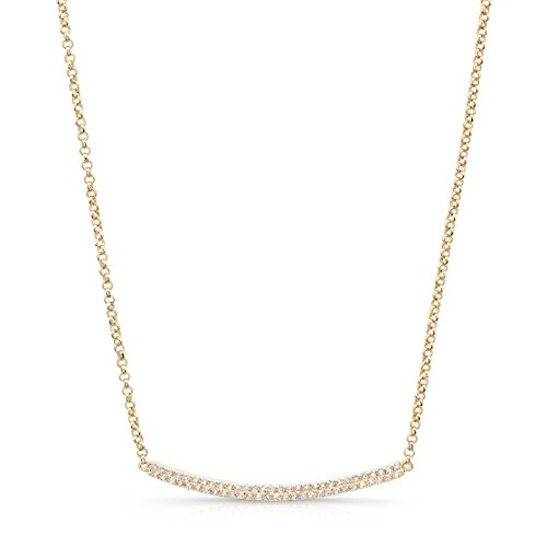 Curved Diamond Necklace - 3