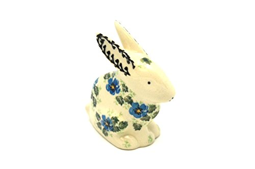 Used, Polish Pottery Rabbit Figurine - Small - Morning Glory for sale  Delivered anywhere in USA