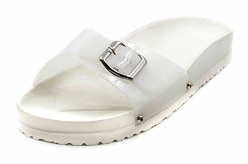 Charles Albert Kvinners Gummi Justerbar Spenne Rem Komfortabel Fotseng Sandal Klar
