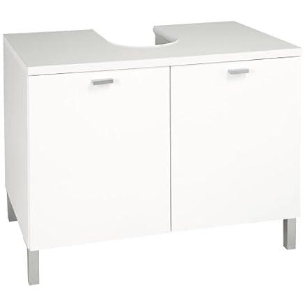 mobile bagno preforato sotto lavabo e due ante bianco laccato ... - Mobile Bagno Sotto Lavandino
