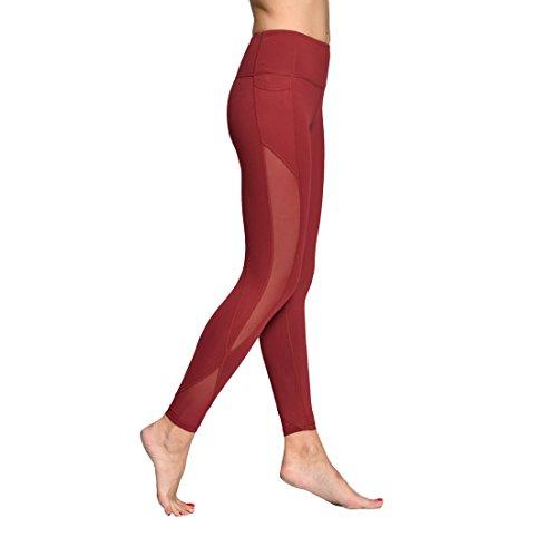 ONGASOFT Yoga Pants for Women Fitness Mesh Workout Leggings Winter Yoga Capris