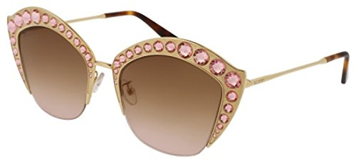 Sunglasses Gucci GG 0114 S- 002 GOLD / BROWN
