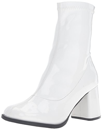 Funtasma Women's Gogo150/w Boot, White Stripe Patent, 8 M US for $<!--$27.93-->