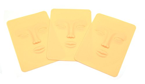Face Form Pack (Set of 3 Practice Skin 3D Face Practice Skin For Makeup And Tattoo Training)