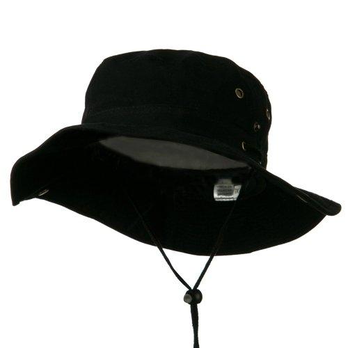 Extra Big Size Brushed Twill Aussie Hats - Black 3XL