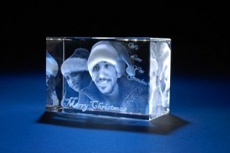 Personalized Custom 3d Photo Etched Engraving Crystal Glass Loving Gift (Birthday Gift, Anniversary Gift, Wedding Gift, Corporate Gift,Mother's Day Gift , Valentine's day gift , Christmas Gift) (Photo Crystal compare prices)