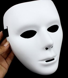 rytetg Full Face Halloween Costumes DIY Blank Painting