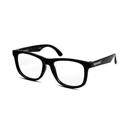 Hipsterkid Baby Opticals - Glasses w/Strap - Kids/Girl/Boy - Break It or Lose It Warranty (Black/Clear UV)(Ages 0-2) ()